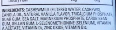 Cashewmilk - Ingredients