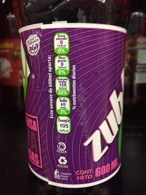 Zubba - Informations nutritionnelles