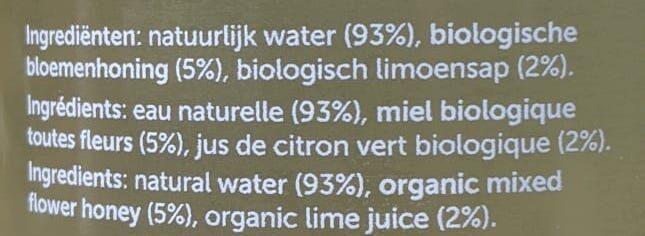 Hny water - Ingrédients - fr