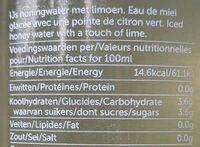 hny water - Voedingswaarden - fr