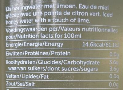 hny water - Informations nutritionnelles