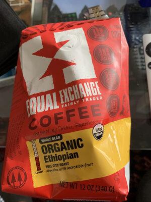 Medium roast ethiopian organic full city roast whole bean coffee - Product - en