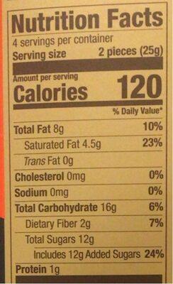 Blood orange intense dark chocolate bar - Nutrition facts