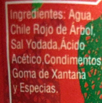 Chile de árbol - Ingrédients - es