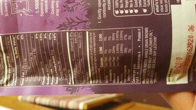 Organic brown & red rice with chia & kale, chia & kale - Ingredients - en