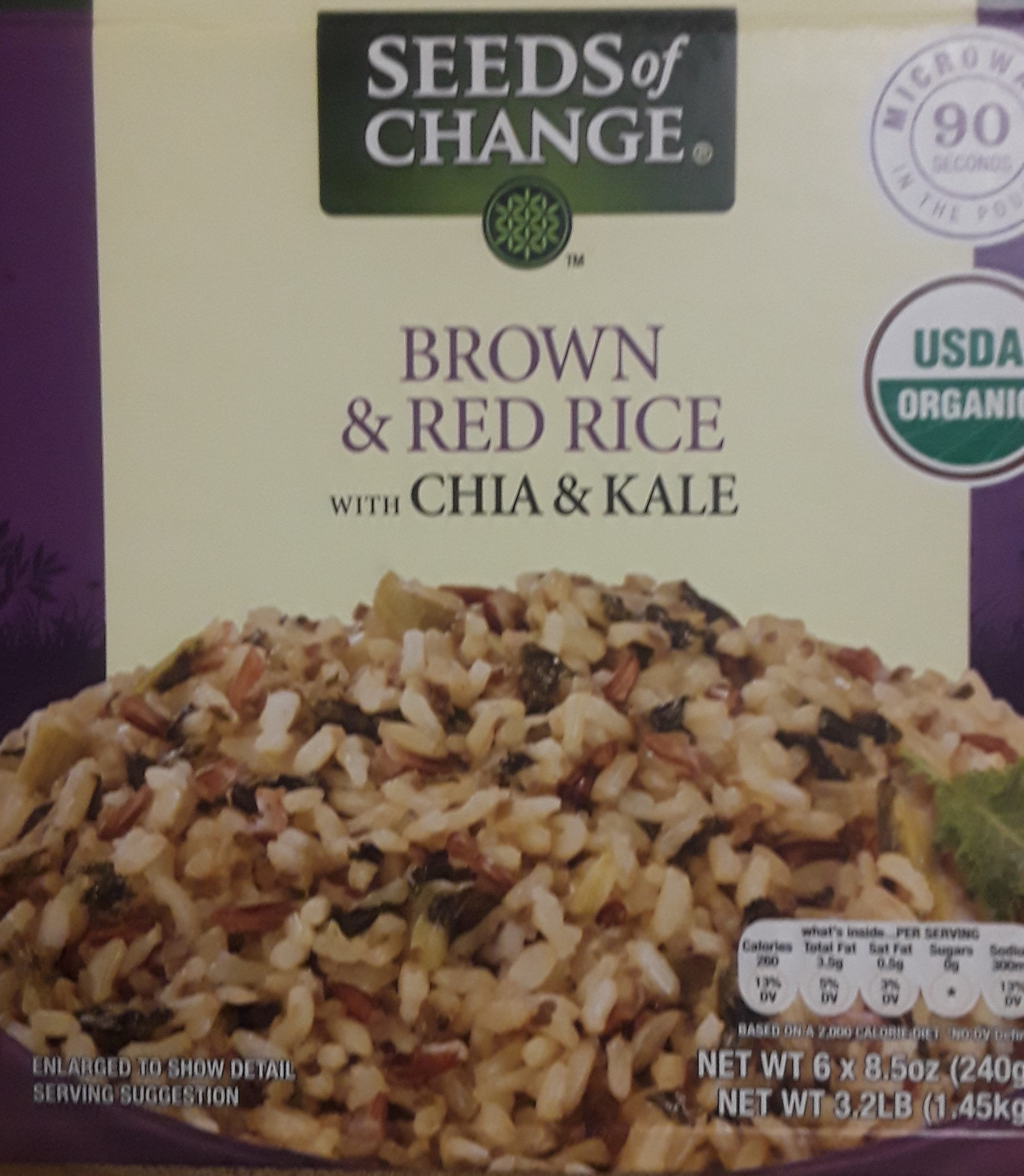 Brown & Red Rice With Chia & Kale - Product - en