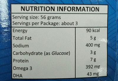 corned tuna - Informations nutritionnelles - en