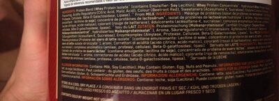 100 % Whey Gold Standard - 908 - Fraise - Ingredients - fr