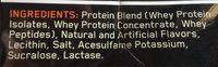 Gold standard 100% whey - Ingredients - en