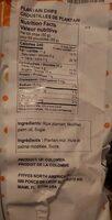 Chip plantain sweet - Informations nutritionnelles - es