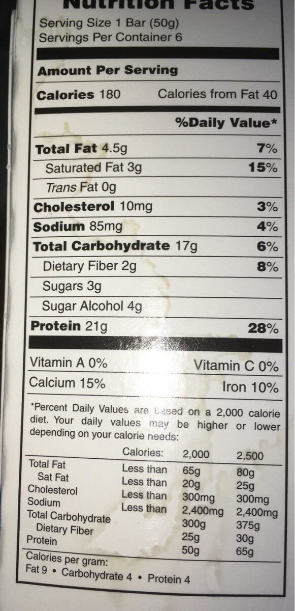 Chocolate deluxe bars - Nutrition facts - en