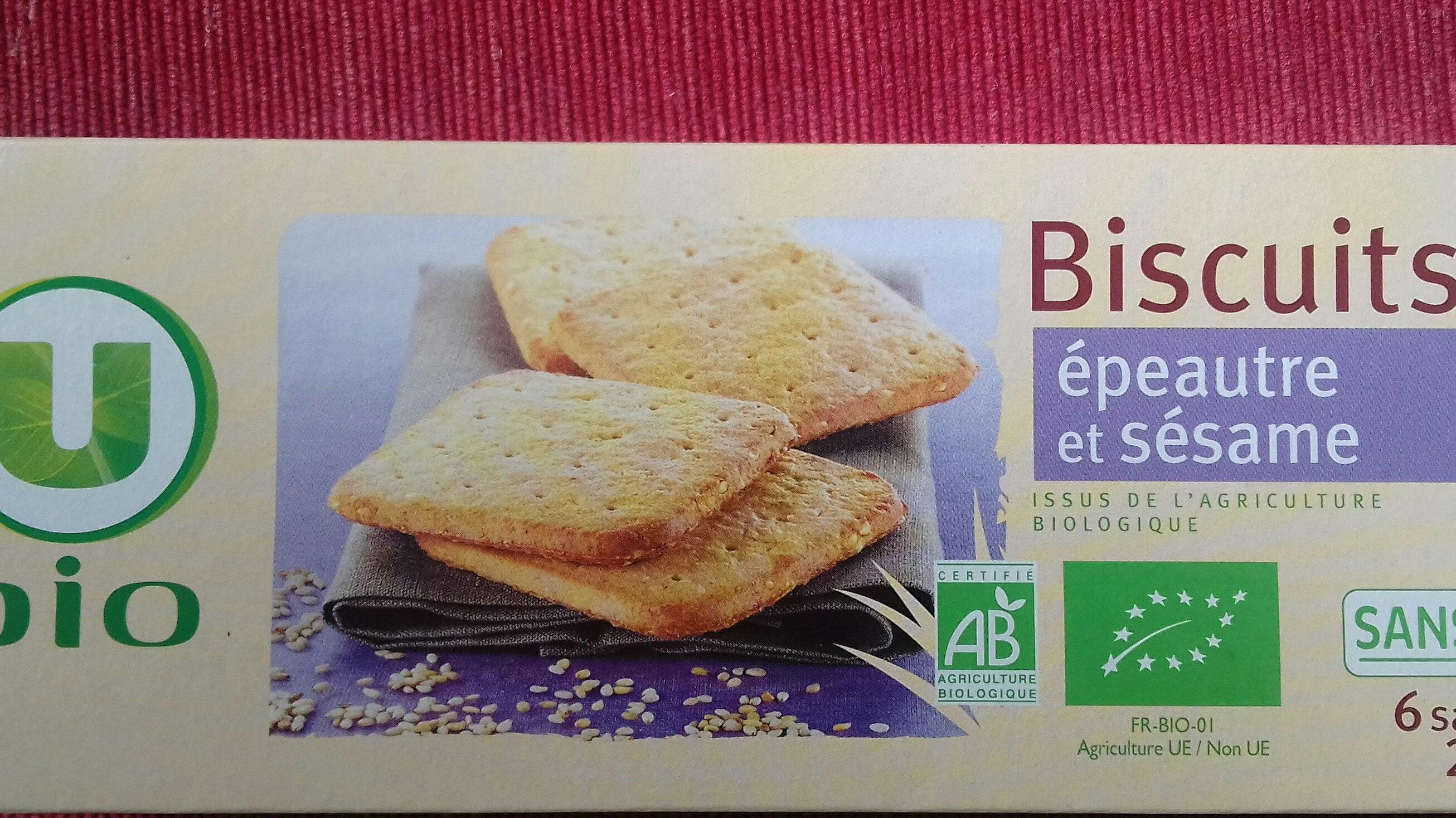 biscuits épeautre et sésame - Product - fr