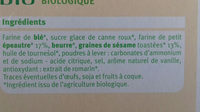 biscuits épeautre et sésame - Ingrediënten - fr