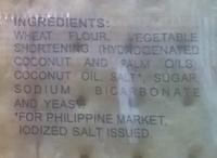 Sky Flakes crackers - Ingredients