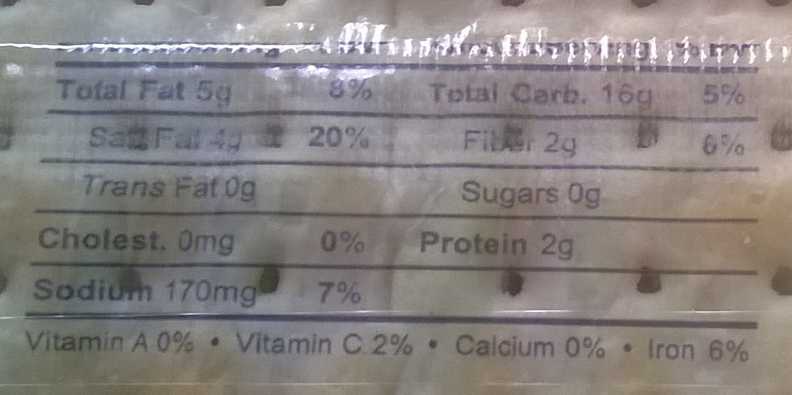 Sky Flakes crackers - Nutrition facts