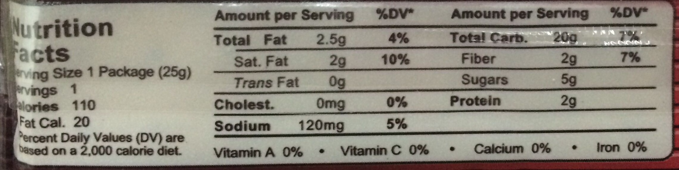 M.Y. San Grahams Honey - Nutrition facts