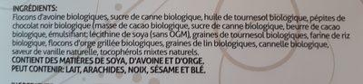 Ilios granola biologique - Ingrediënten - fr