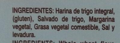 Galletas integrales - Ingredientes - es