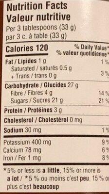 Noir classique - Nutrition facts - fr