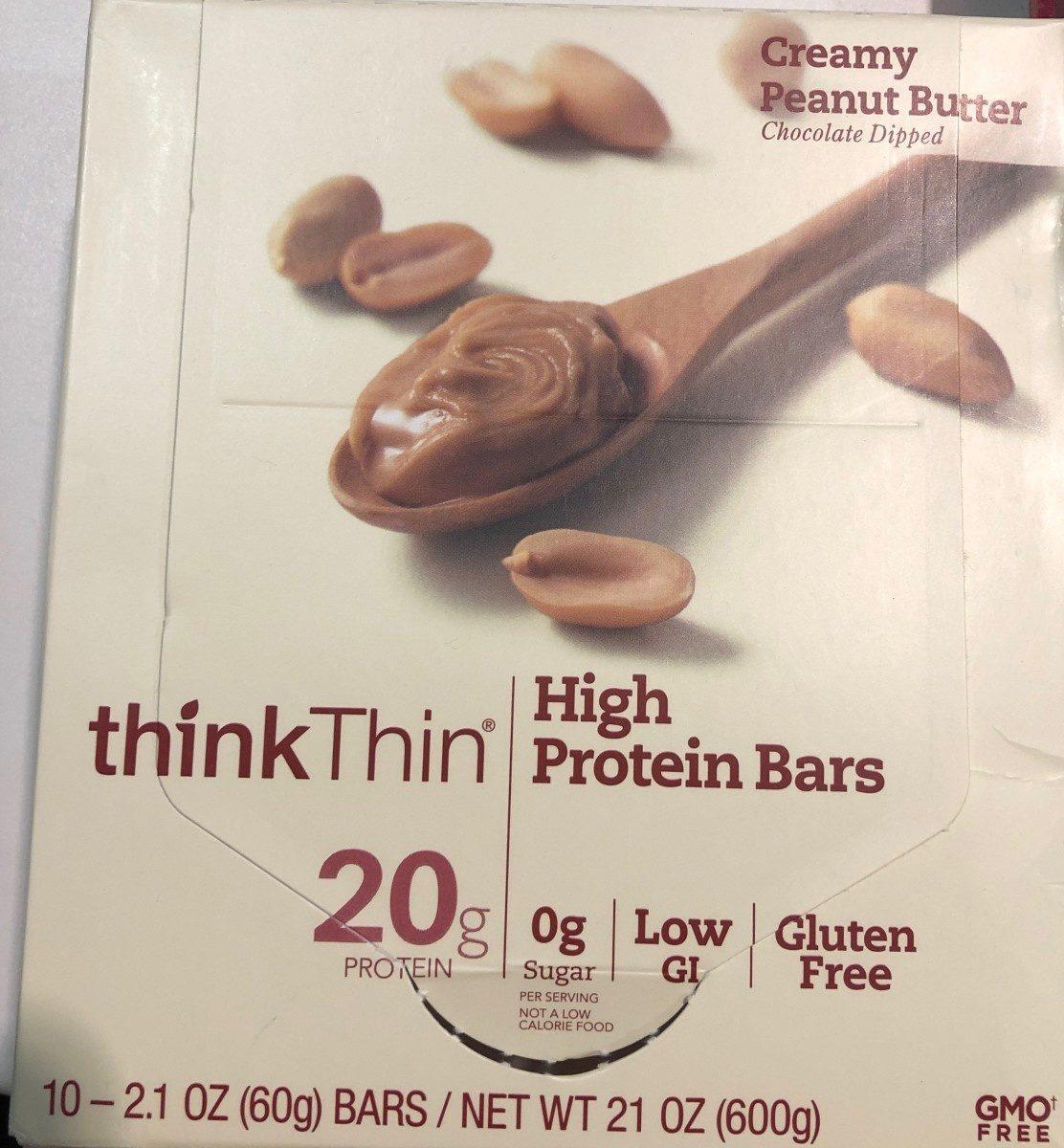 Creamy peanut butter chocolate dipped high protein bars, creamy peanut butter - Product - en
