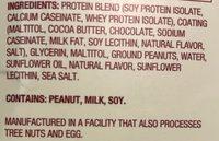 Creamy high protein bars - Ingrédients