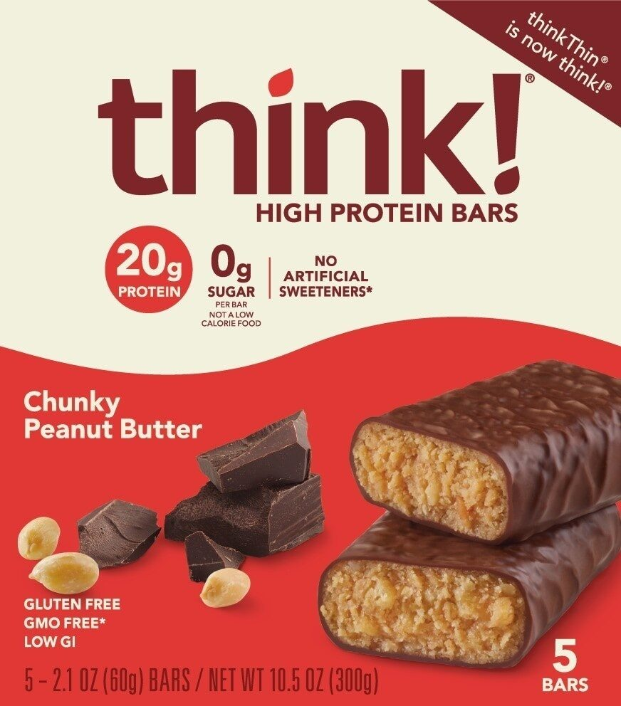 High protein chunky peanut butter bars - Product - en
