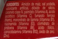 Fécula de maíz para preparar atole - Ingrediënten - es