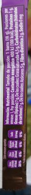 Turing 70% cacao - Información nutricional