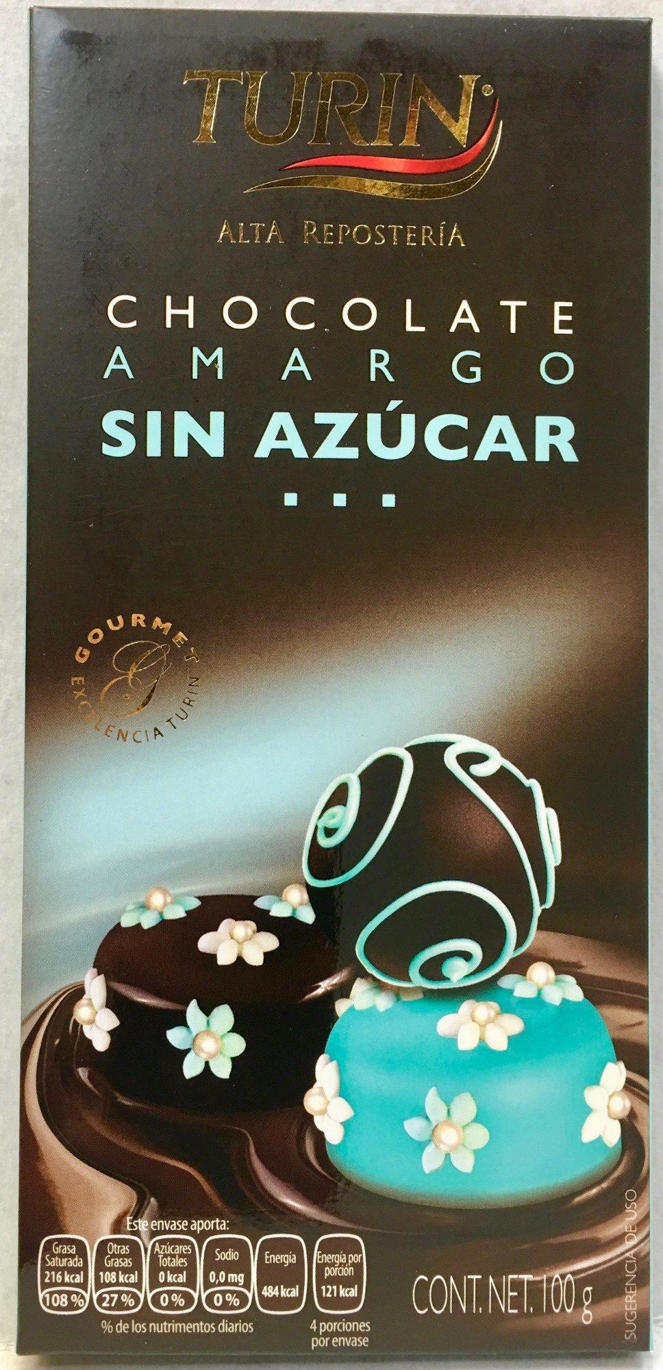 Chocolate amargo sin azúcar - Produit - es
