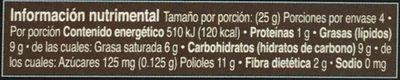 Chocolate amargo sin azúcar - Informations nutritionnelles - es