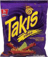 Takis, Tortilla Chips, Fuego - Product - en