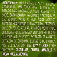 Snaps sabor Esquites - Ingrediënten