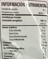 Takis Fuego - Nutrition facts - es