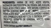Takis Original - Ingredients - es