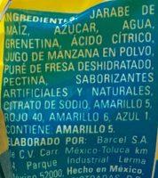 Dulcigomas Ricolino - Ingrediënten