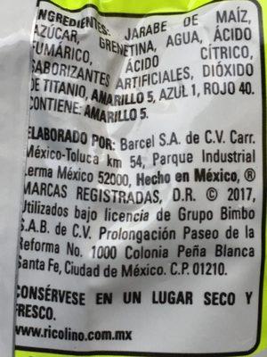 Panditas con sabores ácidos - Ingrediënten