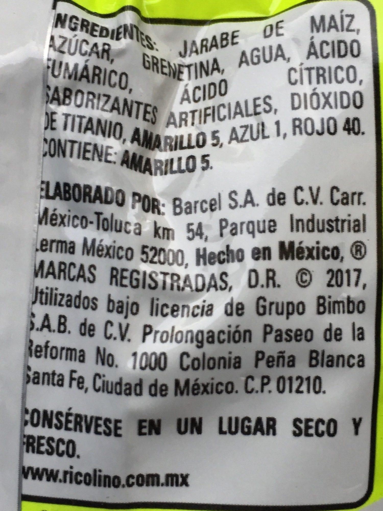 Panditas con sabores ácidos - Ingredients