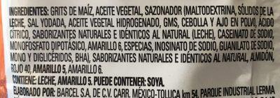 Watz Voltio - Ingredients - es