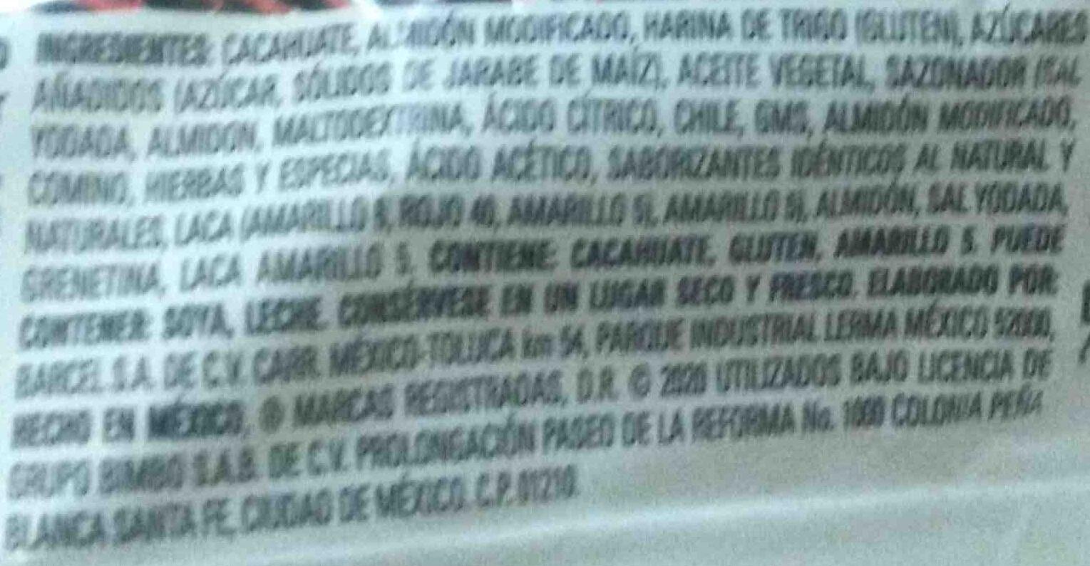 Hot Nuts - Ingredients - es