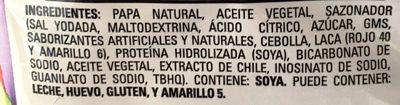Chip´s Fuego - Ingredients - es