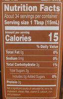 Organic Balsamic Vinegar of Modena - Nutrition facts
