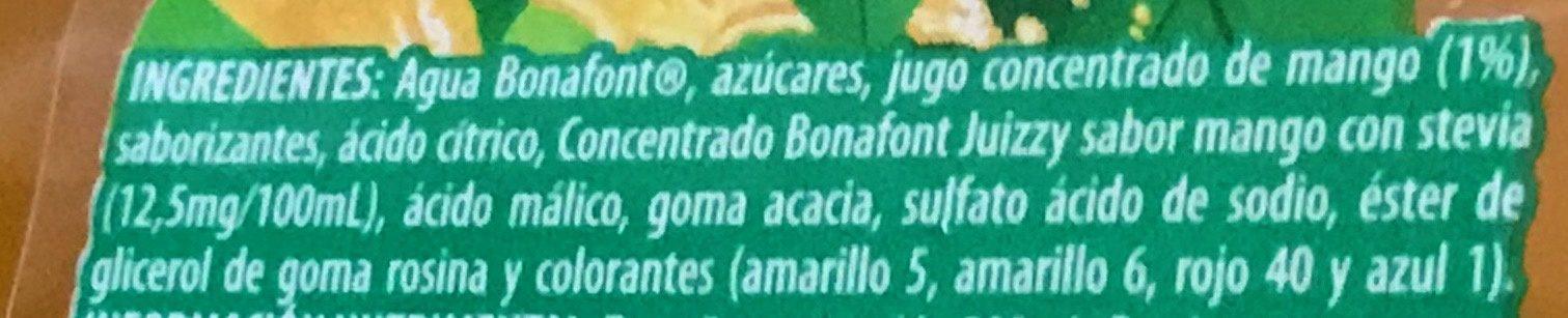 Bonafont Juizzy sabor Mango - Ingrediënten