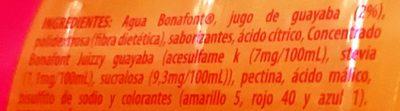 Bonafont Juizzy sabor Guayaba - Ingredientes - es