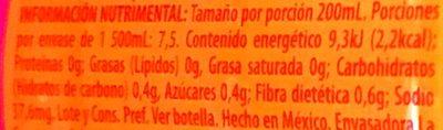 Bonafont Juizzy sabor Guayaba - Información nutricional - es