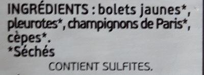 Mélanges de champignons séchés - Ingrédients