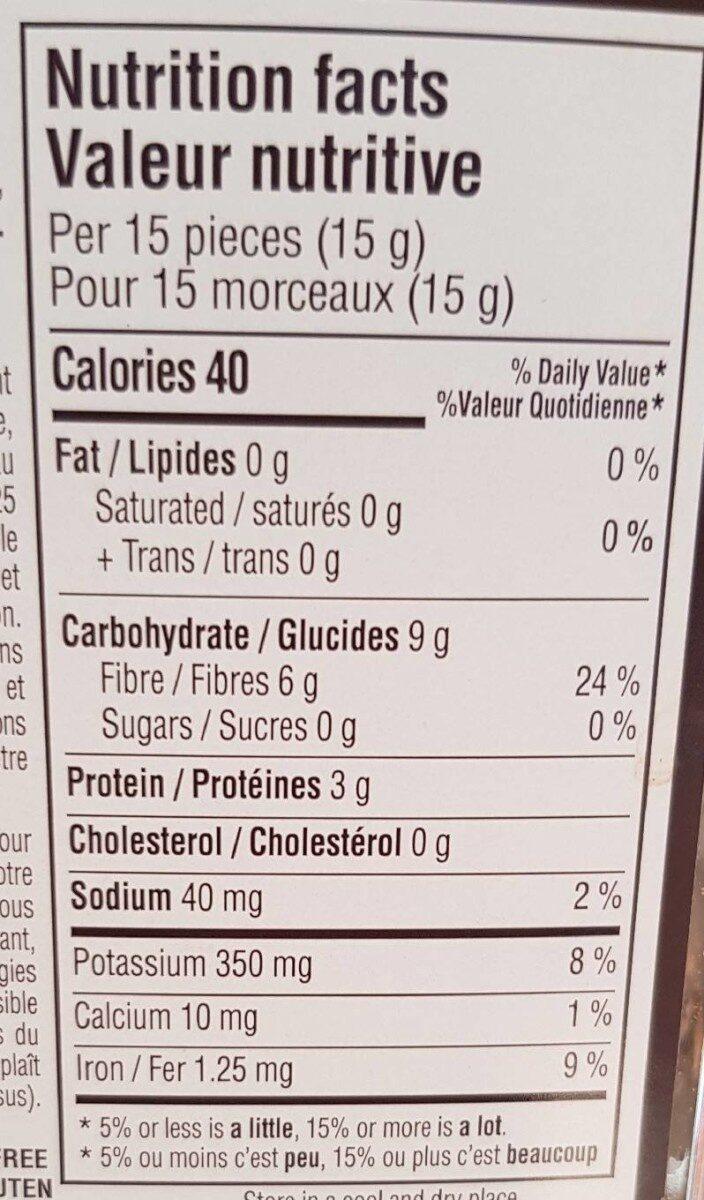 dried gourmet mushroom mix - Nutrition facts - fr