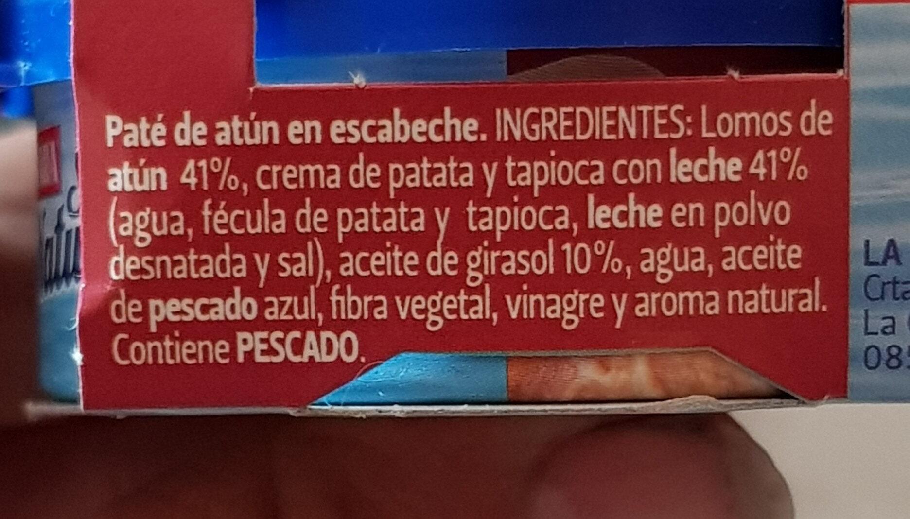 Pate atun en escabeche - Ingredientes - es