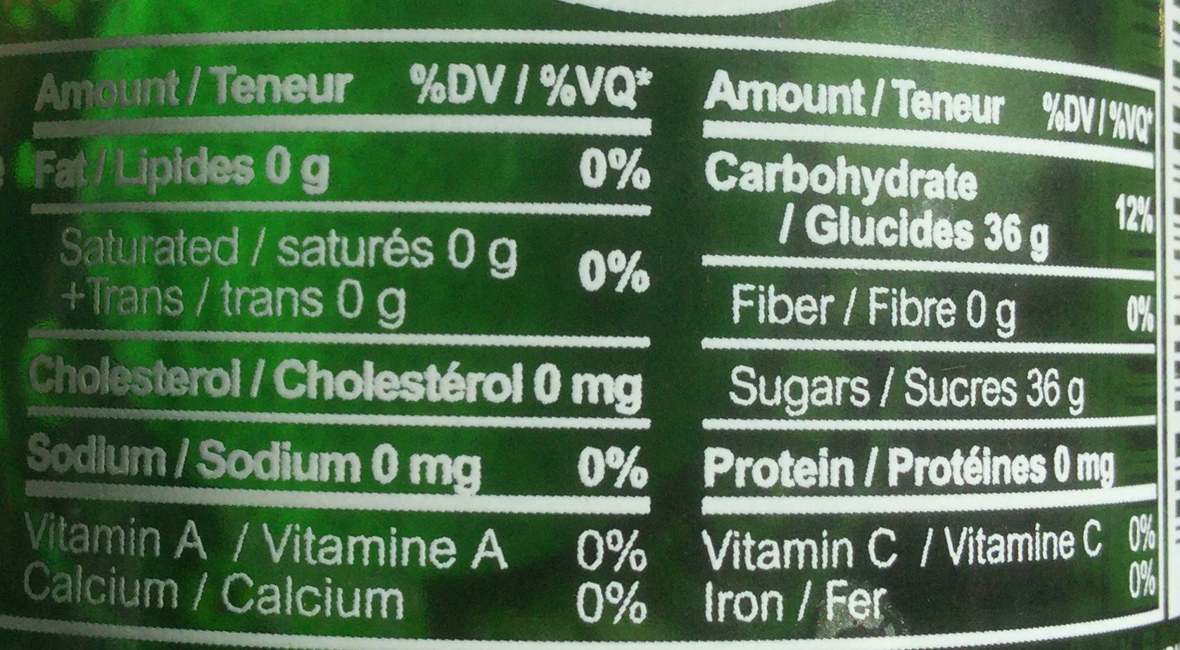 Ginger Ale Soda Au Gingembre - Nutrition facts - en