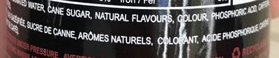 Canne Cola - Ingredients