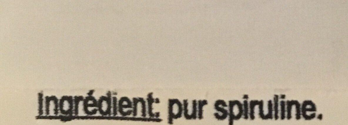Spiruline. Paillettes - Ingrédients - fr